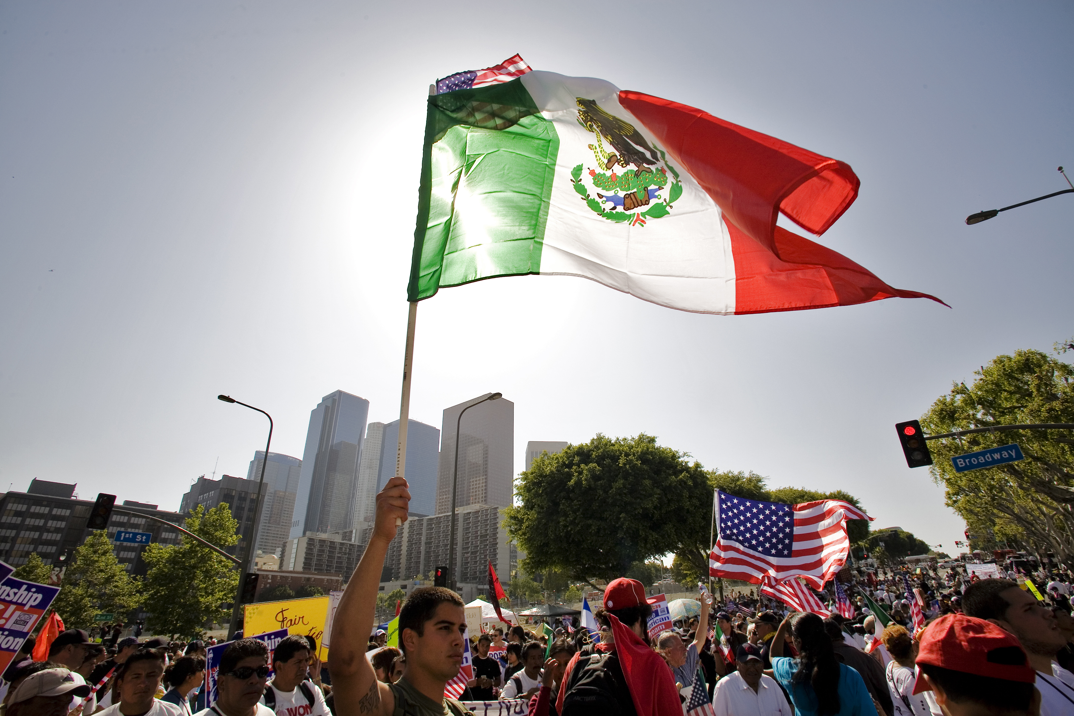 May Day March In Los Angeles