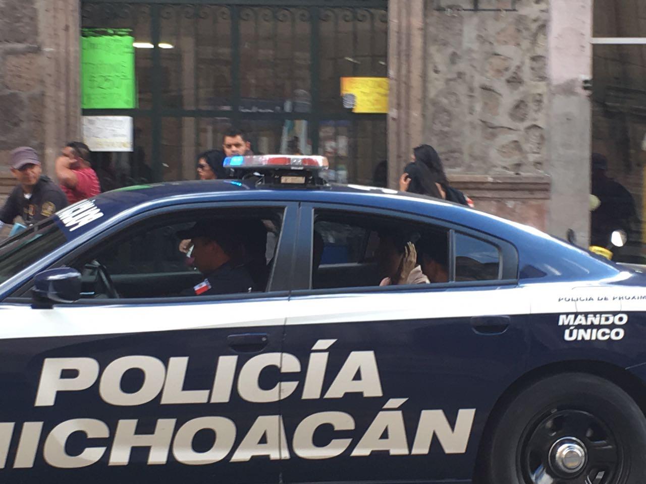 policia michoacan centro historico