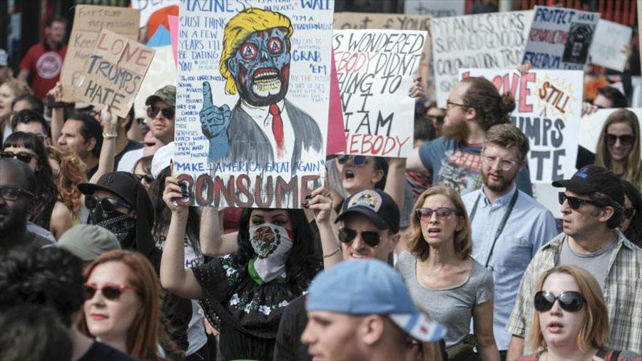 protestas anti Trump