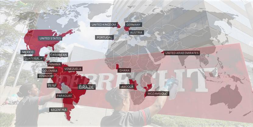 Países donde opera Odebrecht