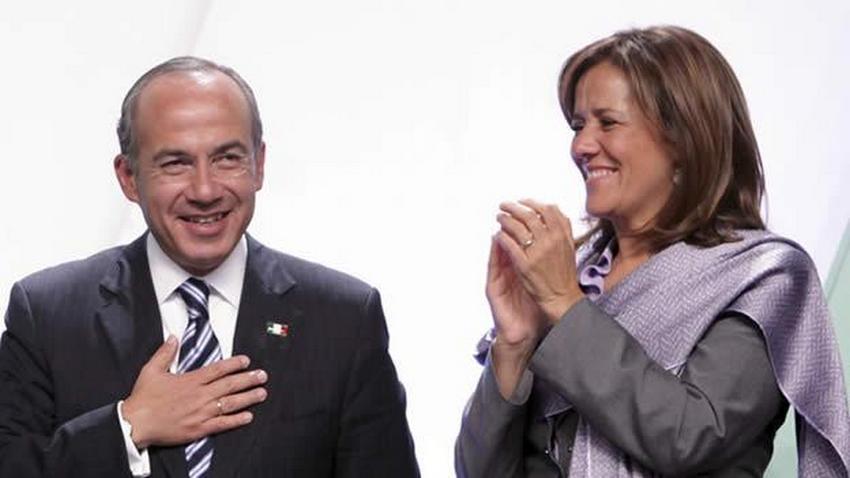 Felipe Calderón y Margarita Zavala