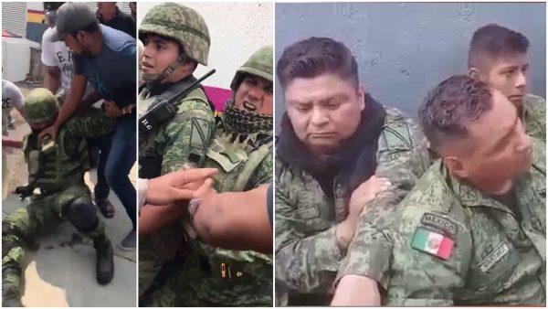 Resultado de imagen para retienen a militares en Michoacan